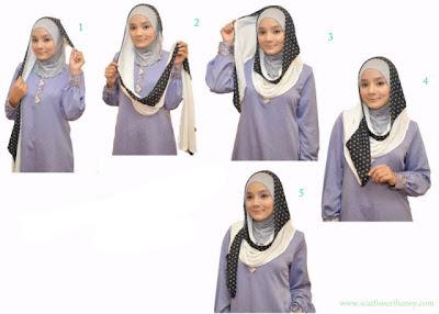 Cara Memakai Jilbab Model 2