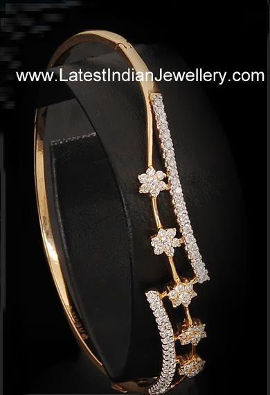 Floral Design Diamond Bracelet