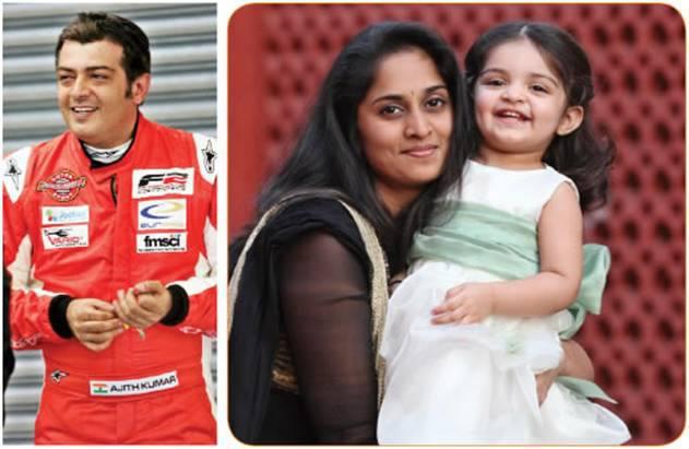 Actor Ajith,shalini& Anoushka Ajith