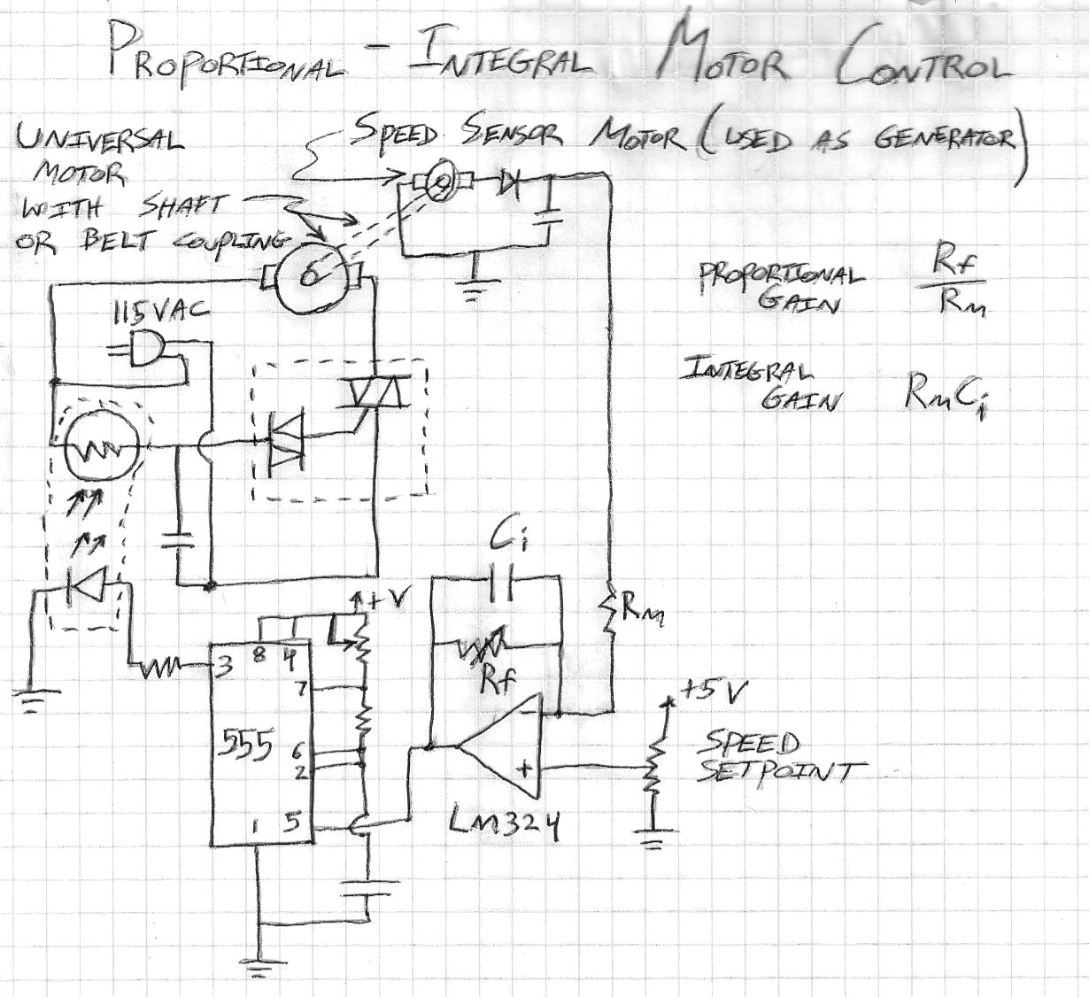 Ben Krasnow 2011 Ac Motor Speed Control Circuit Diagram Additionally Pcb Trace Width This Is A That Allows Safe And Easy Of 115vac Universal Motors Like Drill Blender Other Power Tools