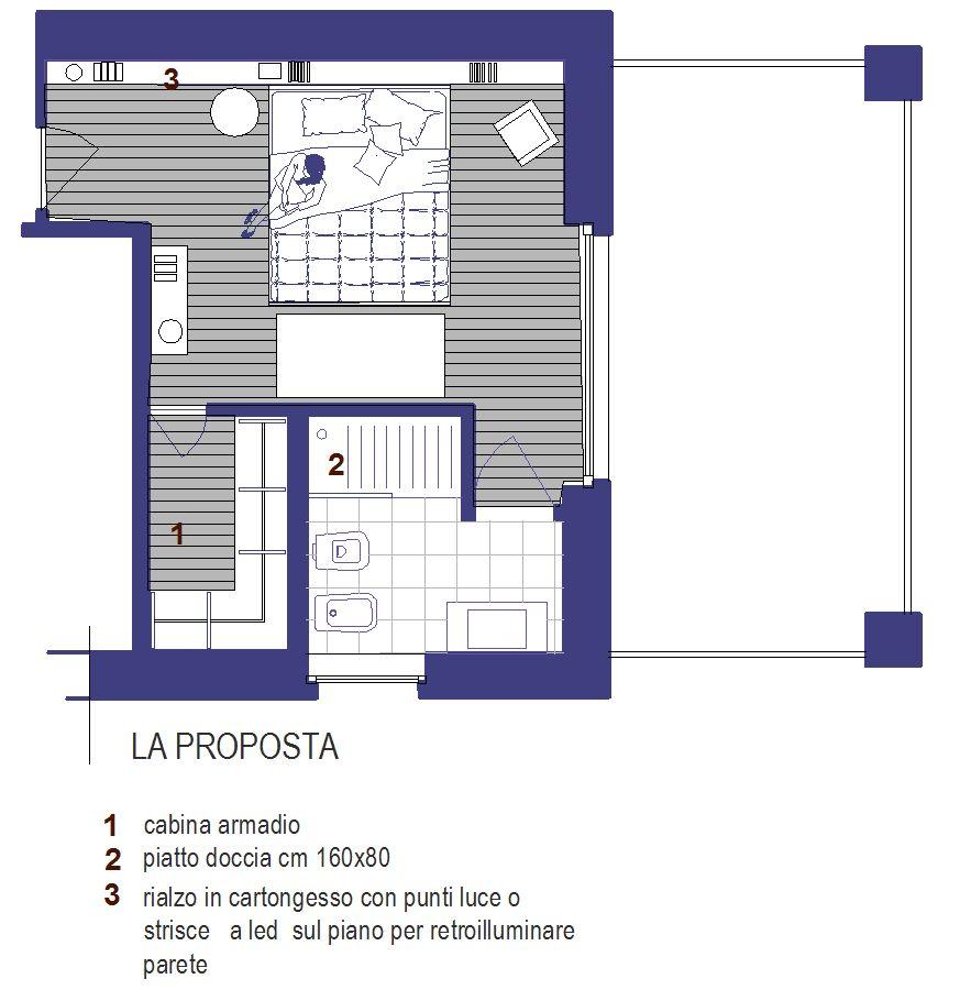 Progetto camera con bagno dz56 regardsdefemmes for Cabina armadio low cost