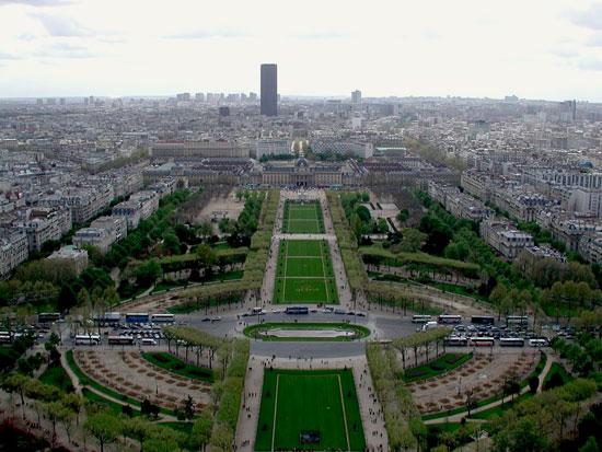 Aerial View of Paris City.