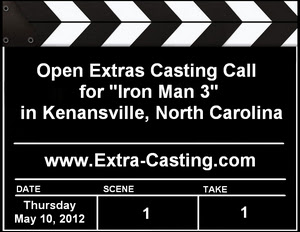 Kenansville Iron Man 3 Casting Call
