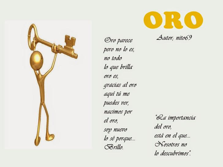 ORO (poema reflexivo).