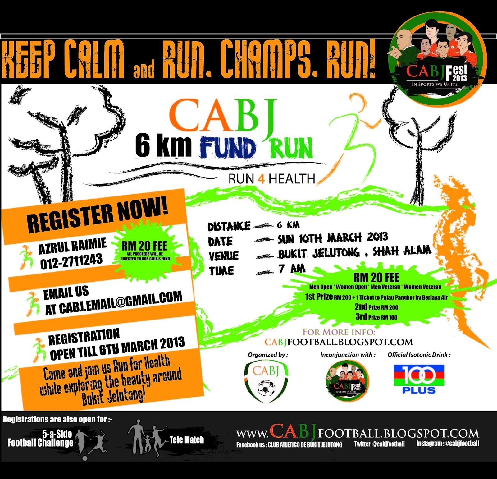 CABJ FEST 2013: Fundraising Run