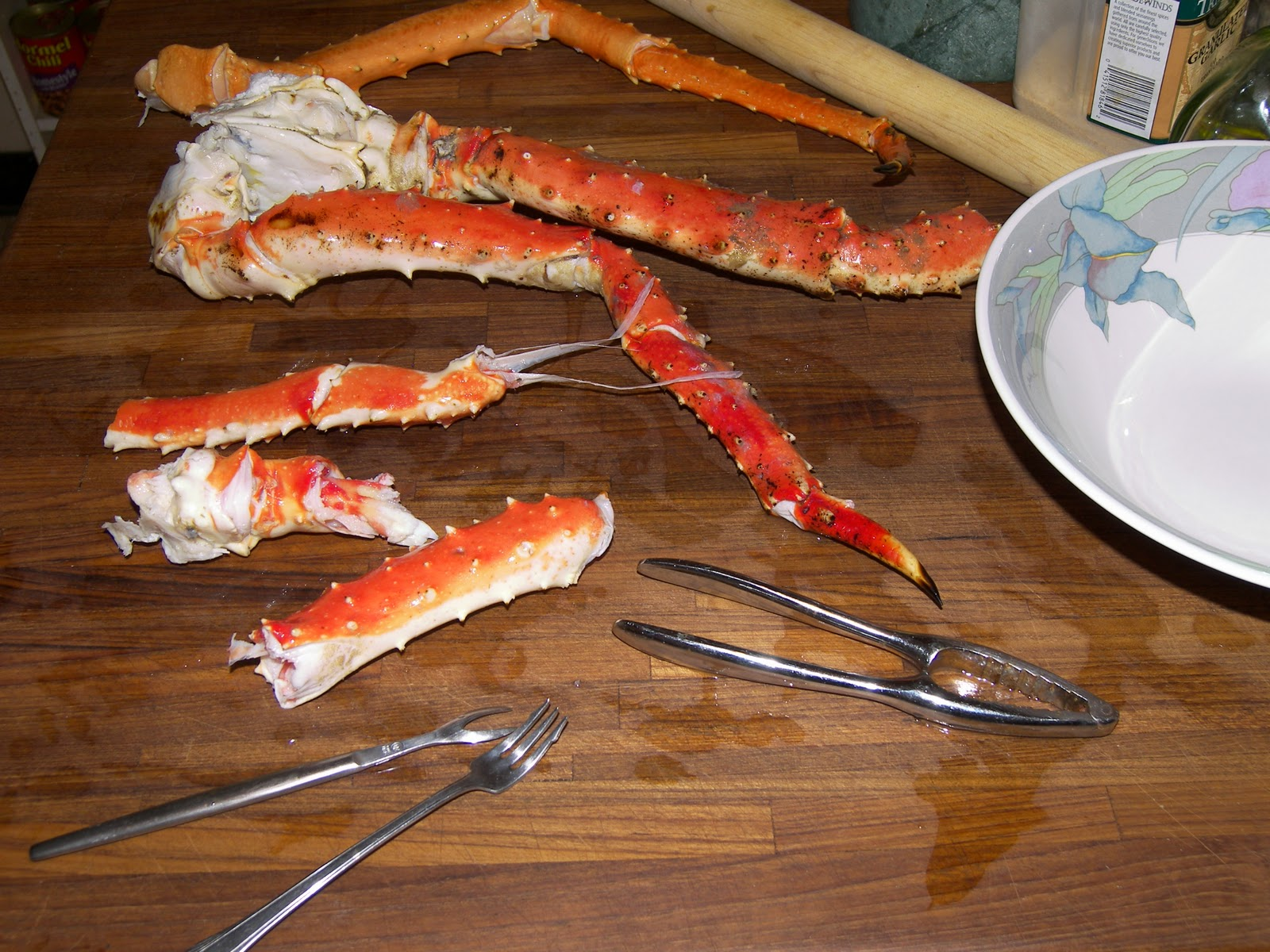 cooking delicious food king crab legs how to break them down