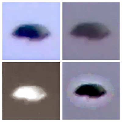 Black Disc UFO Captured Above Arizona 2015, UFO Sighting News