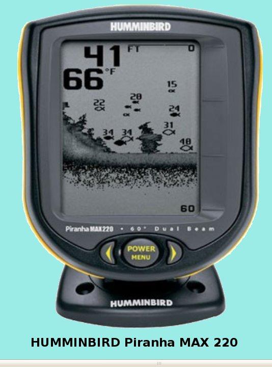 Один из самых популярных эхолотов - Humminbird PiranhaMAX 220