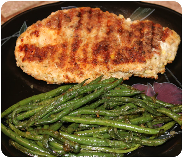 Crispy Chicken Costoletta with Green Beans