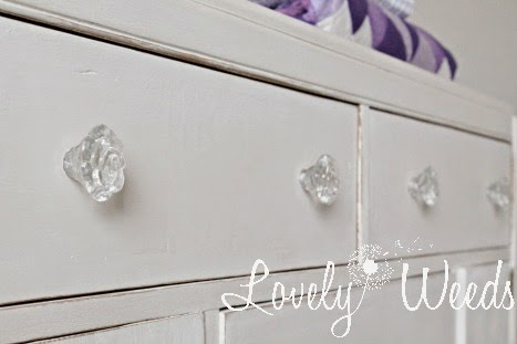 Glass rose knobs from Hobby Lobby