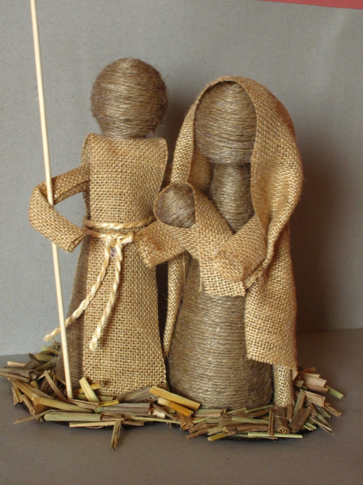 Marymerche nacimiento de cuerda - Artesanias con telas ...