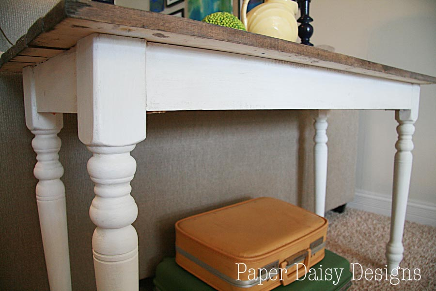 Build a Sofa table/paperdaisydesign.com