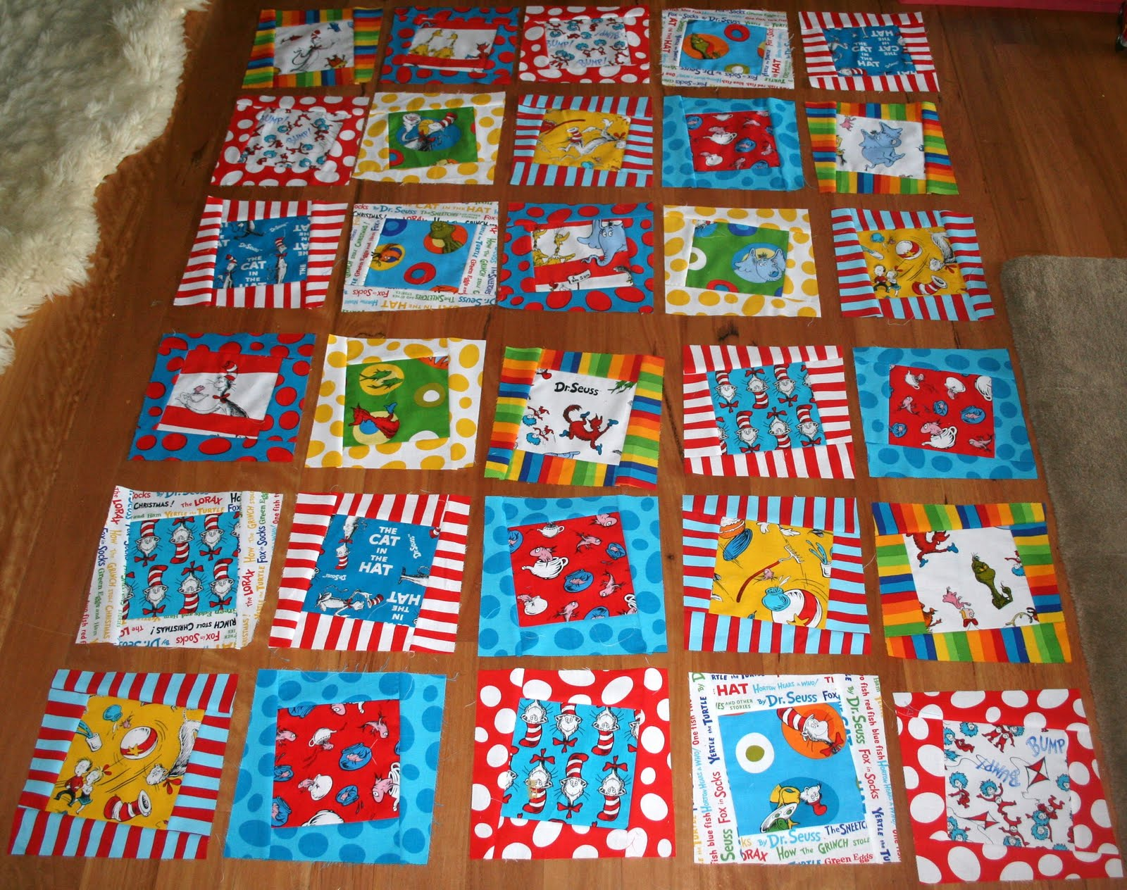 Gone Aussie Quilting Dr Seuss Quilt Wonky Quilt Top Finished