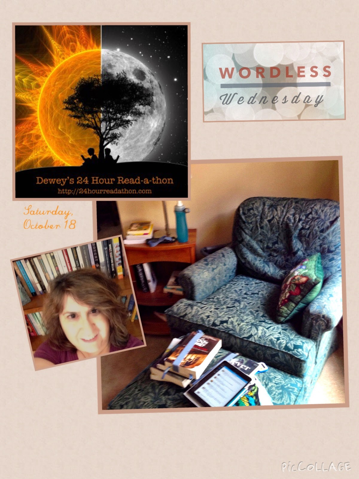 #WordlessWednesday #Readathon photo collage The 3 Rs Blog