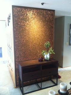 A luxurious copper floor for pennies and 7 other penny for How to make a penny wall