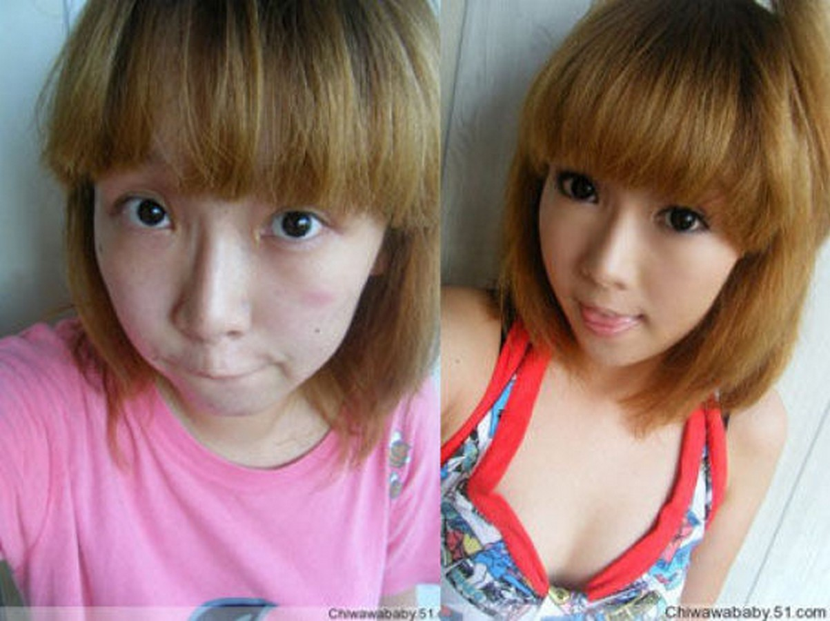 Китаянки с макияжем и без него фото