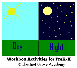 chestnut grove academy earth science unit 2 day night prek 3rd workbox wednesday link up 3. Black Bedroom Furniture Sets. Home Design Ideas