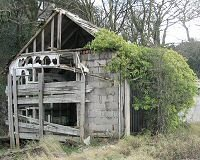 A dilapidated building