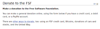 Donación a fsf, proyecto fsf, trabajo fsf
