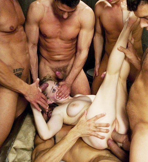 Crazy Double Penetrating Gangbang