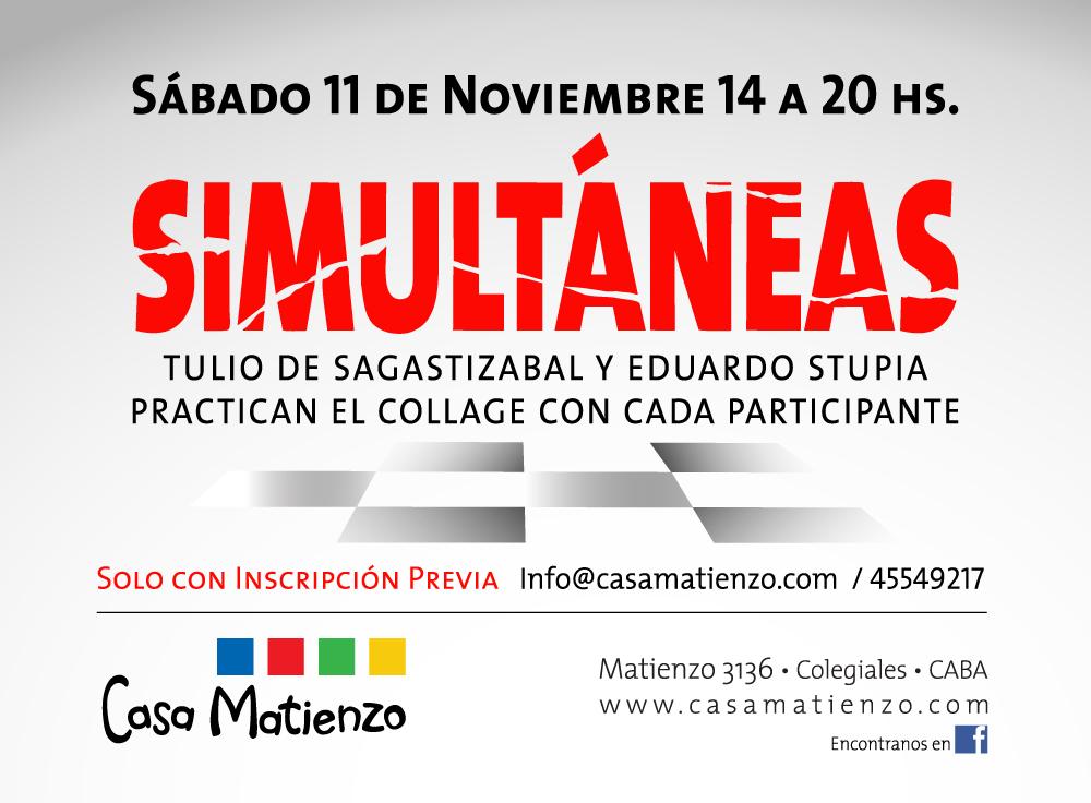 SIMULTANEAS: Taller de producción de Collage. Eduardo Stupía - Tulio de Sagastizabal