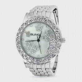 Butterfly Motif timepiece watch