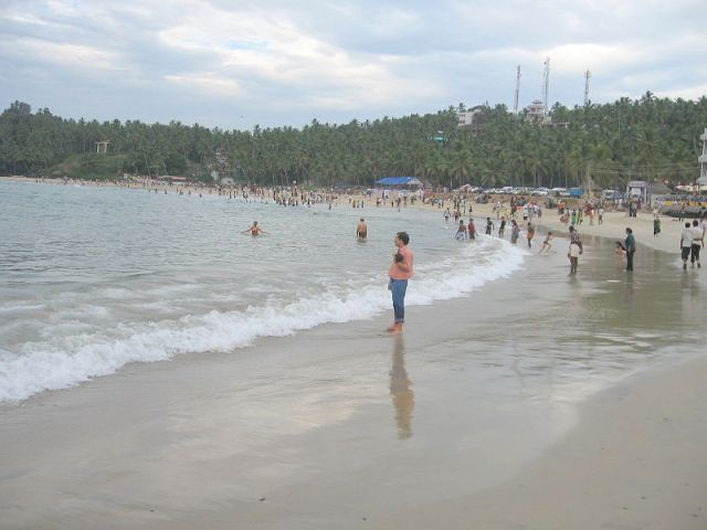 nice view of kovalam beach
