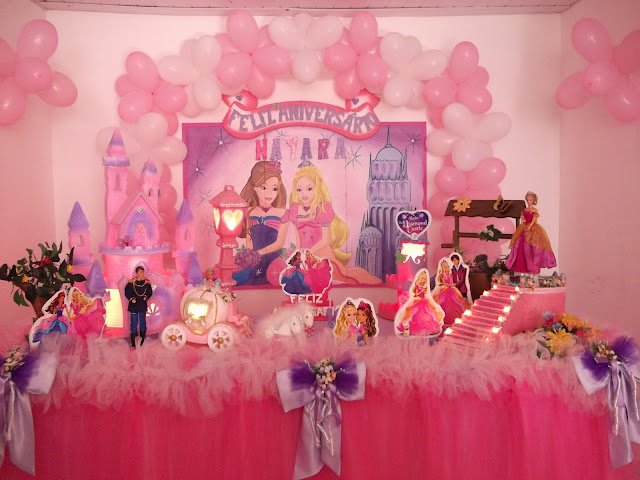 decoracao festa barbie : decoracao festa barbie:Papelete Festas: Decoração da Barbie e o Castelo de Diamante