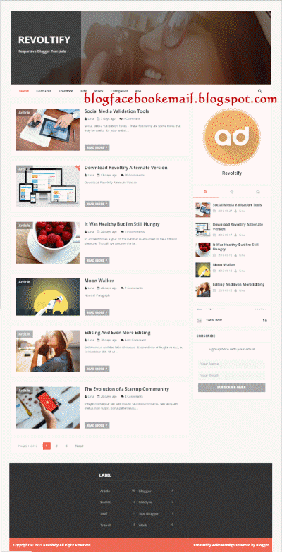 Template keren Revoltify Fast Responsive