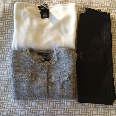 My Midlife Fashion, Massimo Dutti, Leather Leggings, Boucle, Cashmere jumper