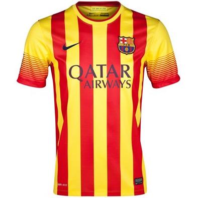 segunda camisa barça 2014 bandeira da catalunha