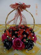 basket bouquet coklat