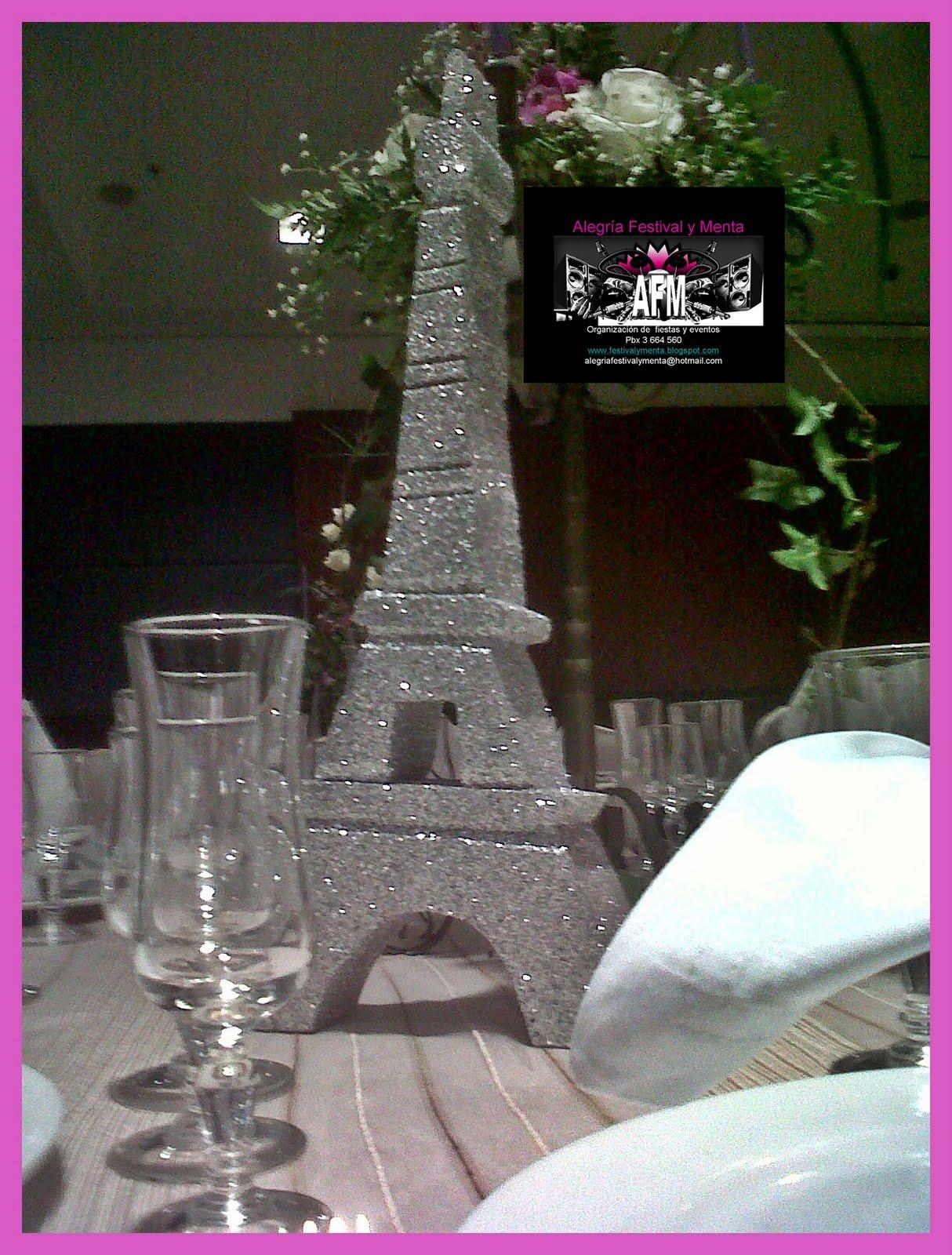 Decoracion Quincea?eras Paris ~ ALEGRIA FESTIVAL Y MENTA BODAS 15 A?OS FIESTA TEMATICA PARIS