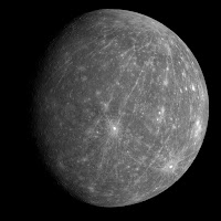Surface geology of mercury planet