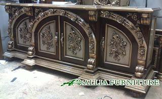 Furniture Semprot Melamine Kombinasi Perak