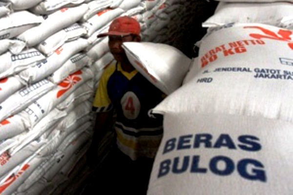Beras Bulog. Kotabumi Lampung Utara
