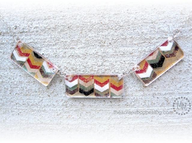 Acrylic Chevron Necklace