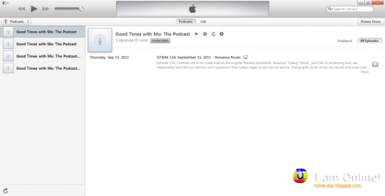 iTunes 11 Podcasts