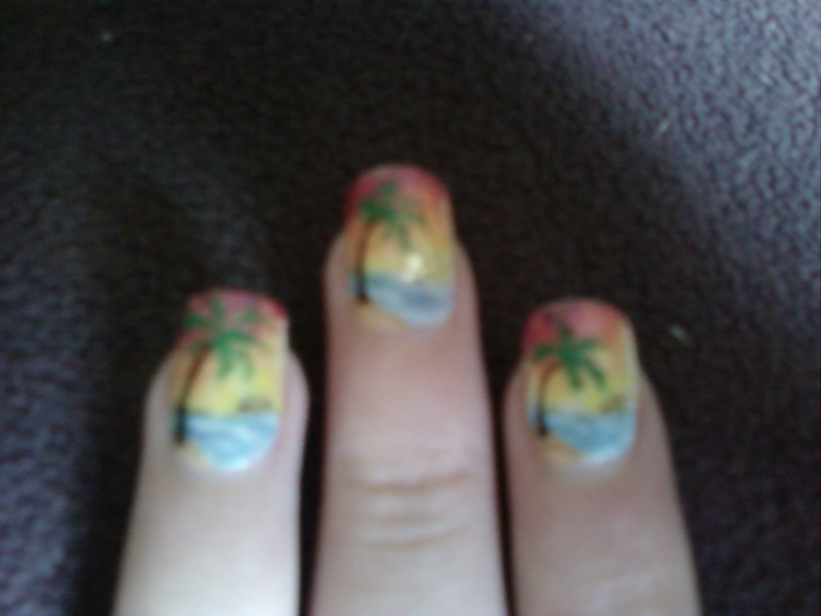 Kiely Nail Art: Tropical Island Nails