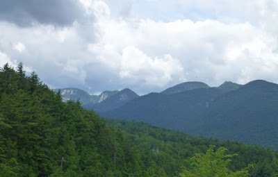 View of the Great Range from the Beer Walls, Saturday, 07/25/2015.  The Saratoga Skier and Hiker, first-hand accounts of adventures in the Adirondacks and beyond, and Gore Mountain ski blog.