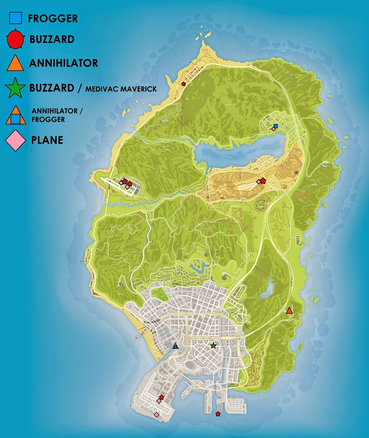 Gta 5 Online Cheats All Helicopter And Plane Locations