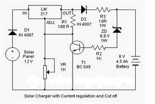 Solar Charger for 6V Battery Electronic Projects