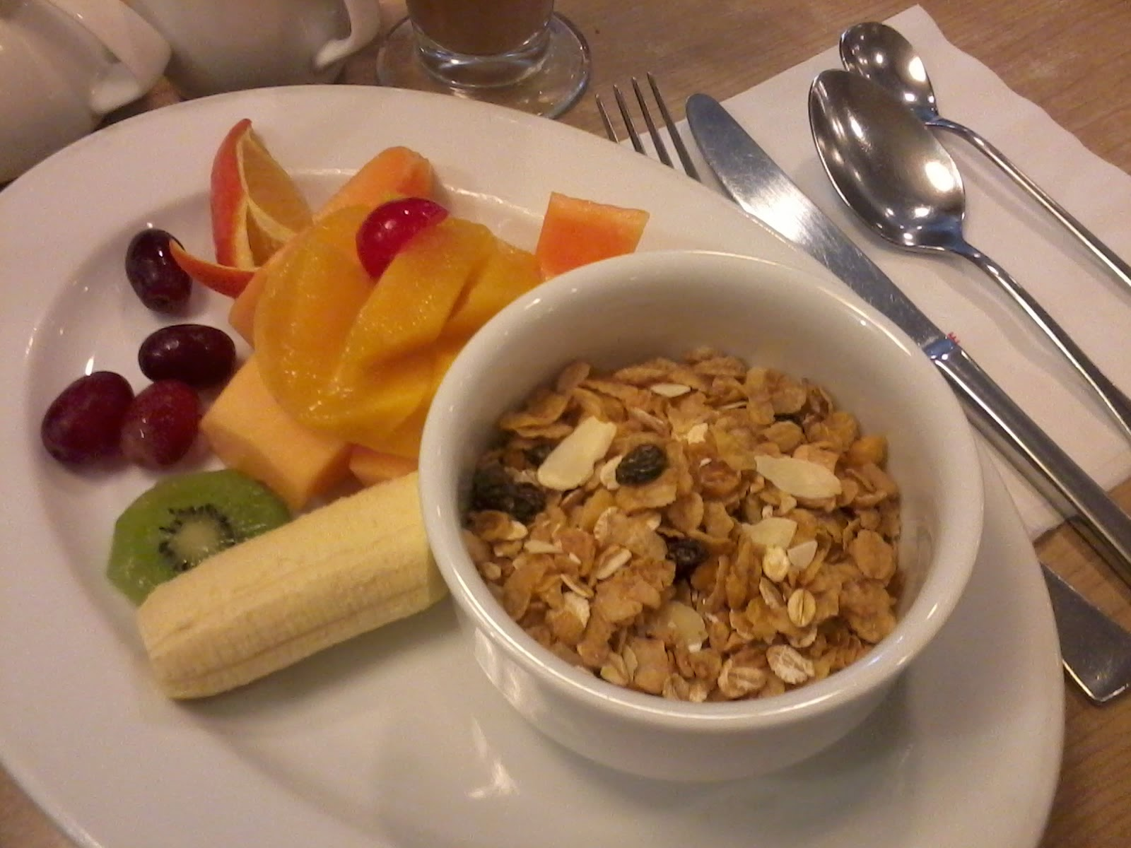 UCC fruits and cereal served