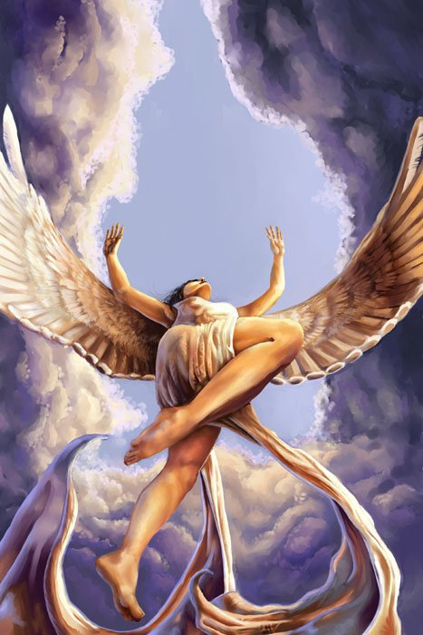 angel flying up to heaven - photo #2
