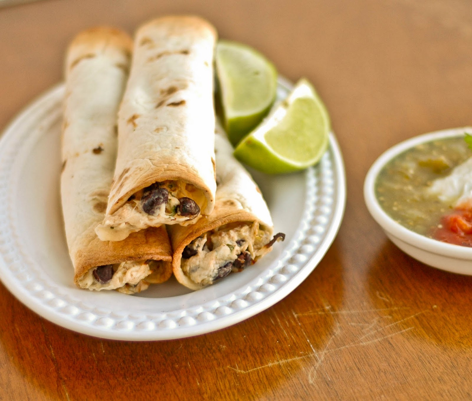 Good Thymes and Good Food: Baked Creamy Chicken Taquitos