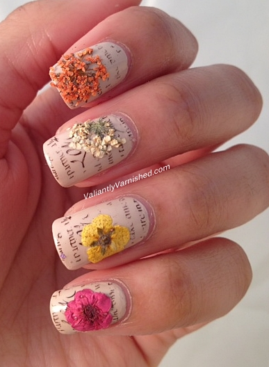 Dry flower nail art gallery nail art and nail design ideas dried flower nail design best images about nail art dried flower dried flower nail design valiantly prinsesfo Image collections
