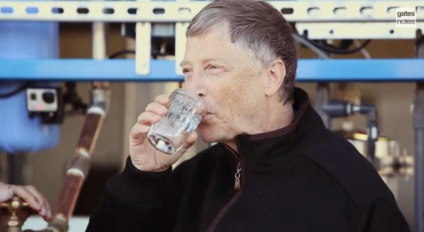 Video público Youtube - Fundação Bill Gates e a água de fezes humanas
