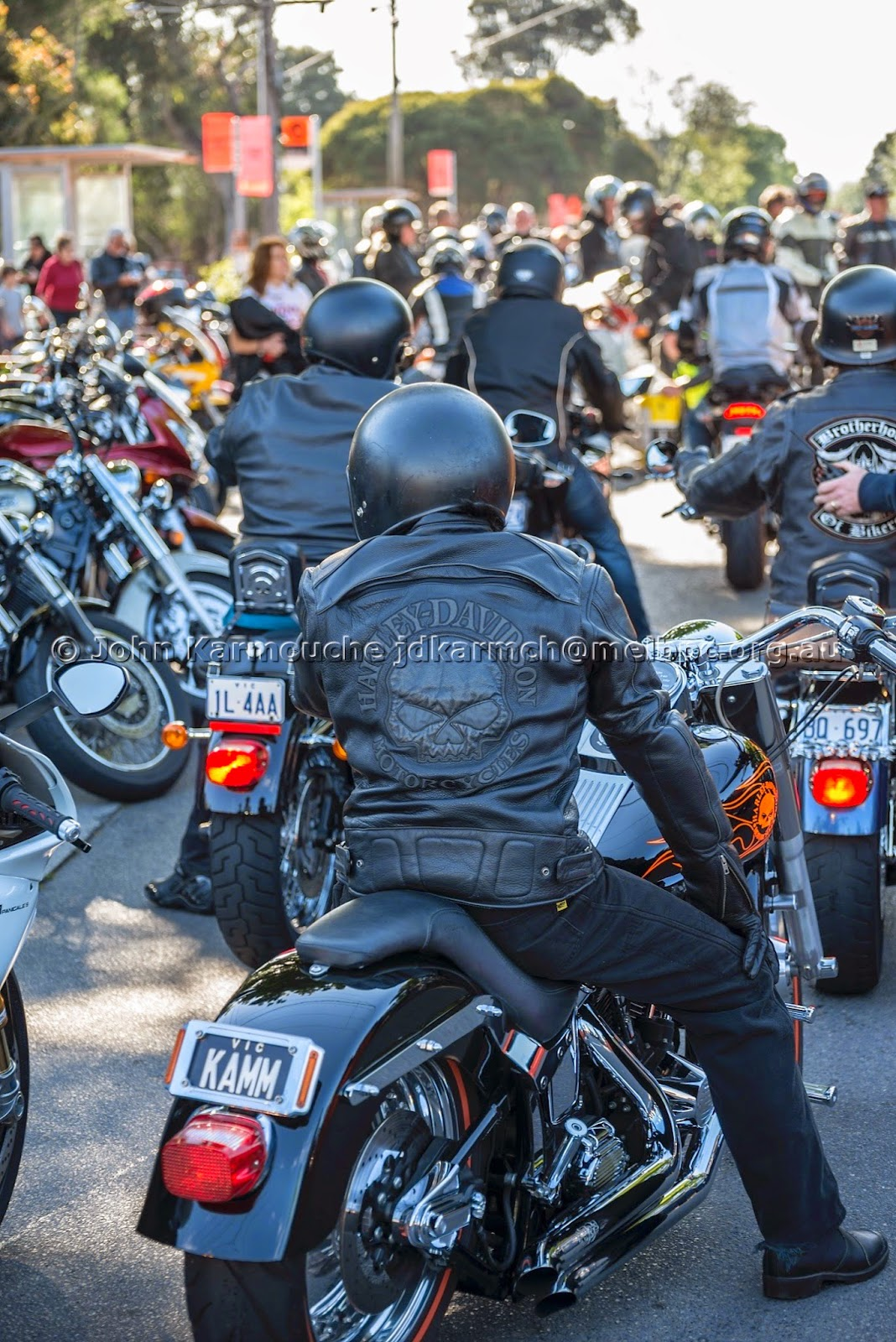Harley Bikers Arrive