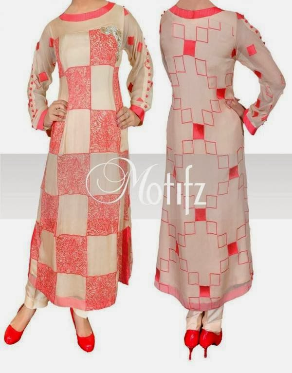 Motifz New Casual Wear Dresses Collection 2014 For Women And Girls