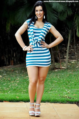 Crossdresser - Look: Micro Vestido Azul
